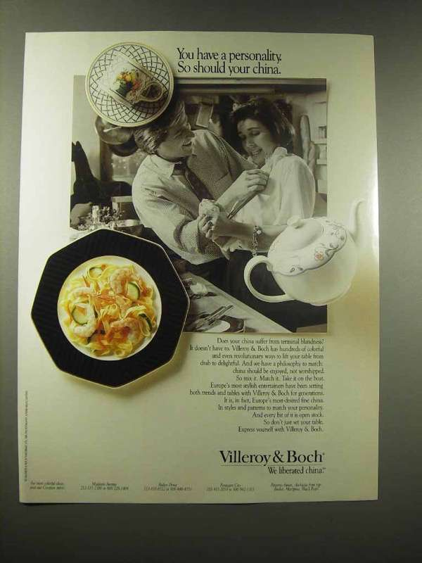 1990 Villeroy & Boch China Ad - You Have A Personality