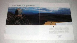 1990 Louis Vuitton Luggage Ad - The Spirit of Travel - $14.99