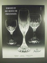 1989 Baccarat Massena Crystal Ad - For Perfectionists - $14.99