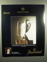 1989 Baccarat Crystal Ad - Young Eagle, Robert Rigot - $14.99