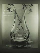 1989 Baccarat Crystal Serpentin Vase Ad - Demanded - $14.99