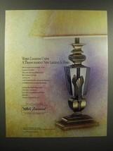 1989 Stiffel-Baccarat Lamp Ad - When Legends Unite - $14.99