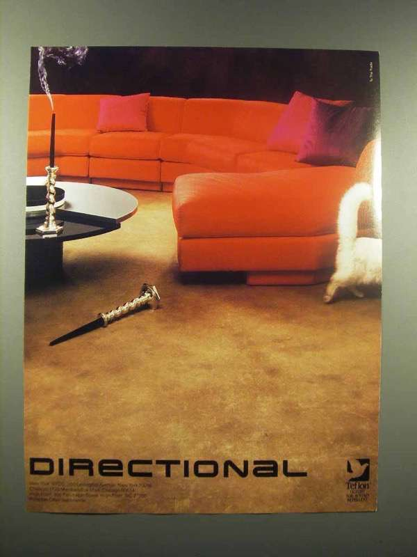 1988 Directional Furniture Sofa Ad
