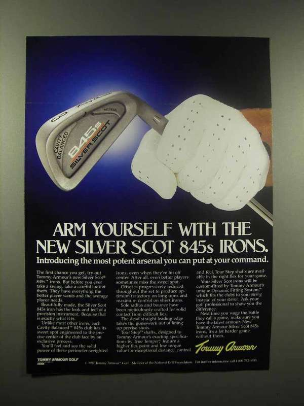 1988 Tommy Armour Silver Scot 845s Iron Golf Club Ad