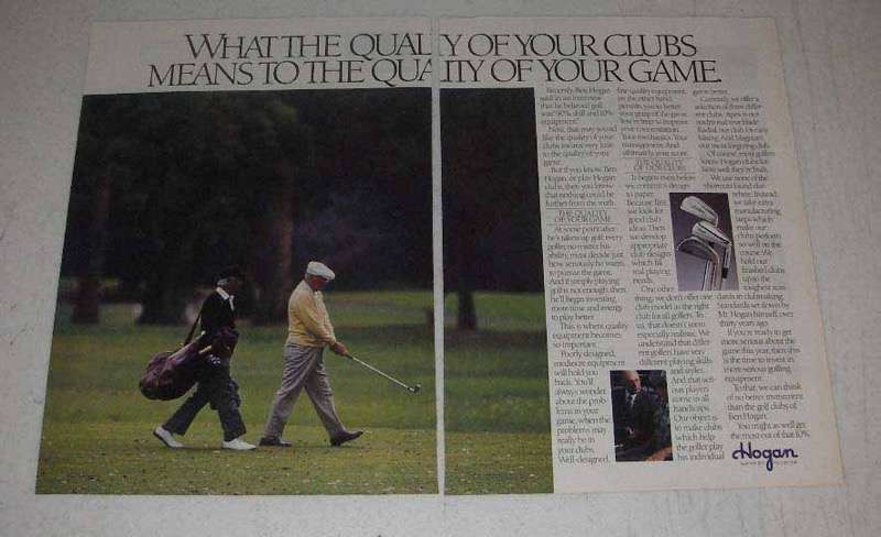 1988 Hogan Golf Clubs Ad - Quality of Your Game