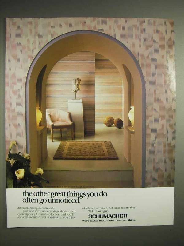 1988 Schumacher Wallcoverings Ad - Great Things