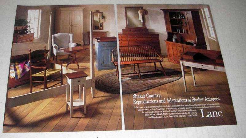 1988 Lane Shaker Country Furniture Ad