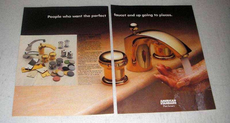 1986 American Standard Amarilis faucet system Ad