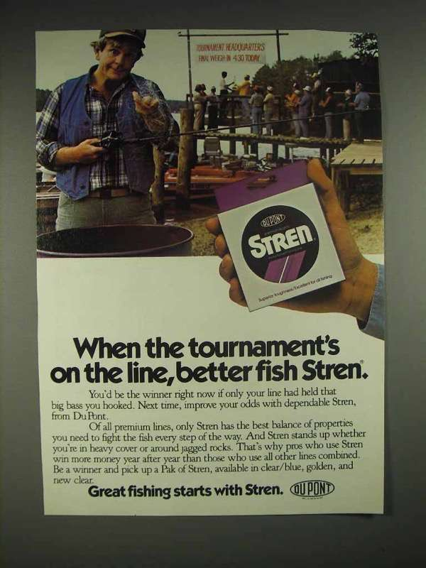 1983 Stren Fishing Line Ad - Tournament on the Line