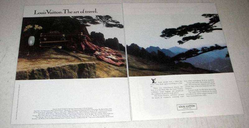 1988 Louis Vuitton Luggage Ad - The Art of Travel
