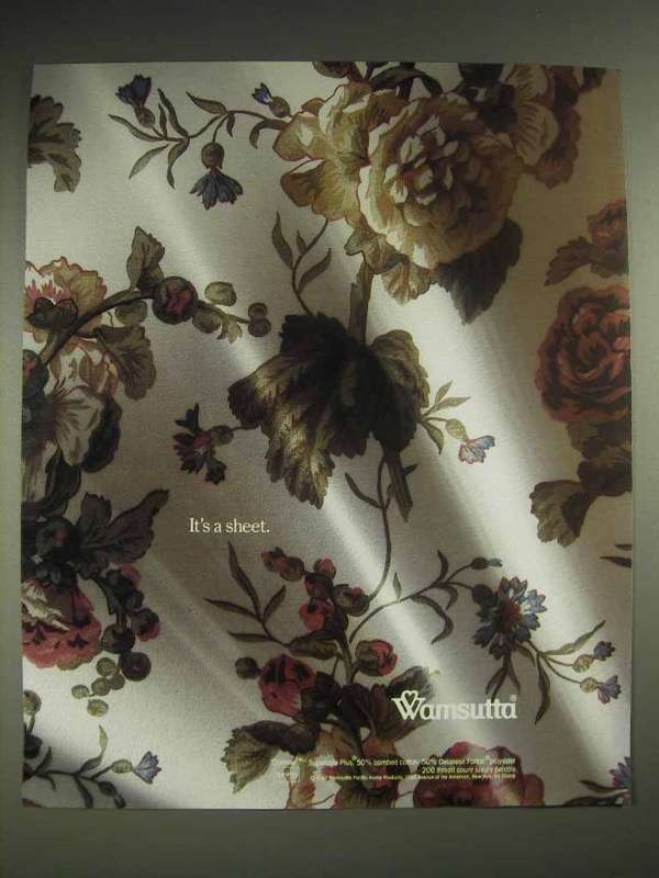 1987 Wamsutta Linen Ad - It's a Sheet