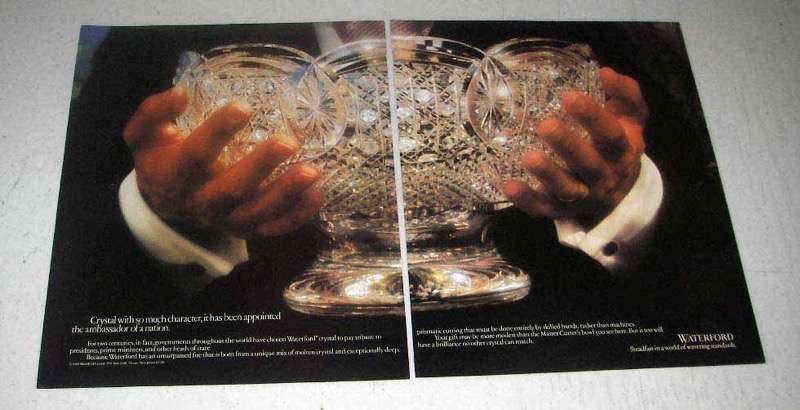 1988 Waterford Crystal Bowl Ad - Ambassador of Nation