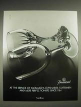 1987 Baccarat Crystal Ad - Monarchs, Luminaries - $14.99