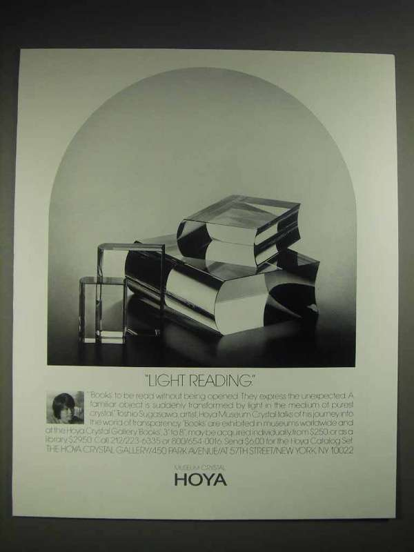 1987 Hoya Crystal Books Ad - Light Reading