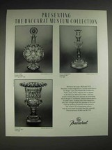 1987 Baccarat Rosette Carafe, Cameo, Medici Vase Ad - $14.99