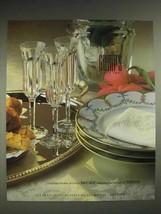 1987 Gump's Baccarat Malmaison, Cerelene Festivite Ad - $14.99