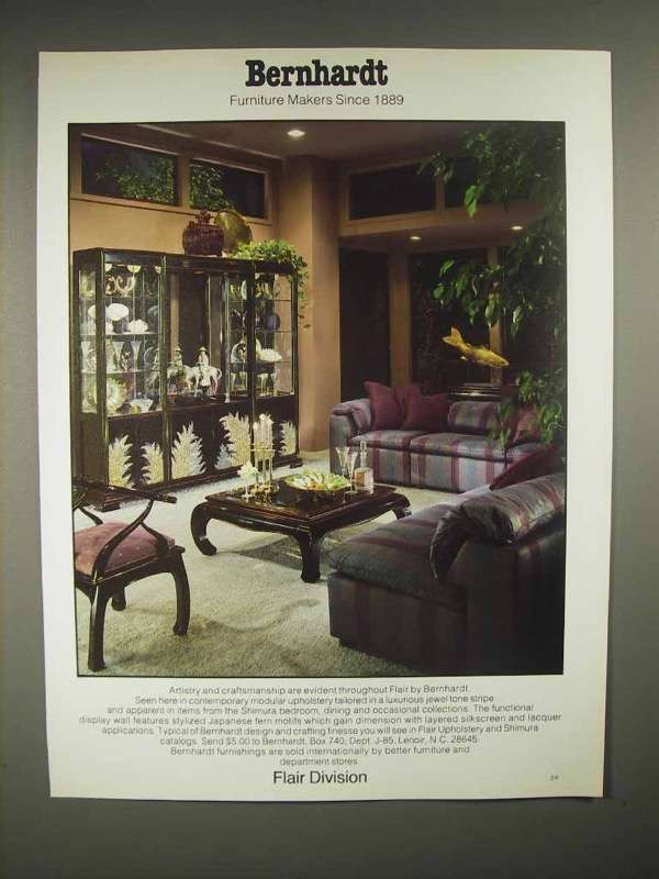 1986 Bernhard Flair Upholstery, Shimura Furniture Ad