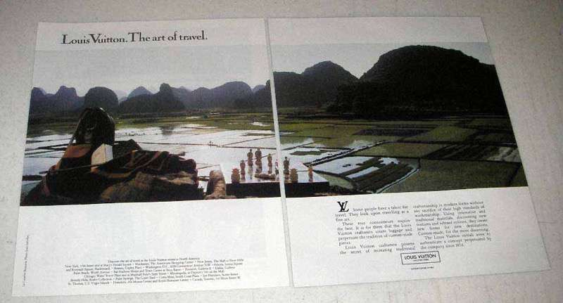 1987 Louis Vuitton Luggage Ad - The Art of Travel