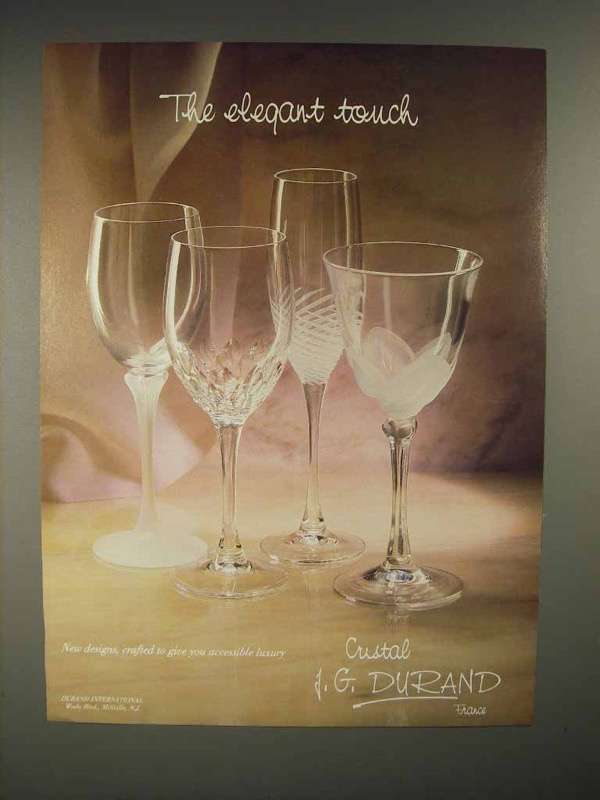 1986 J. G. Durand Crystal Ad - The Elegant Touch