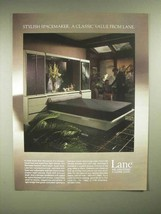 1986 Lane Monreale Bedwall Bed Ad - Stylish Spacemaker - $14.99