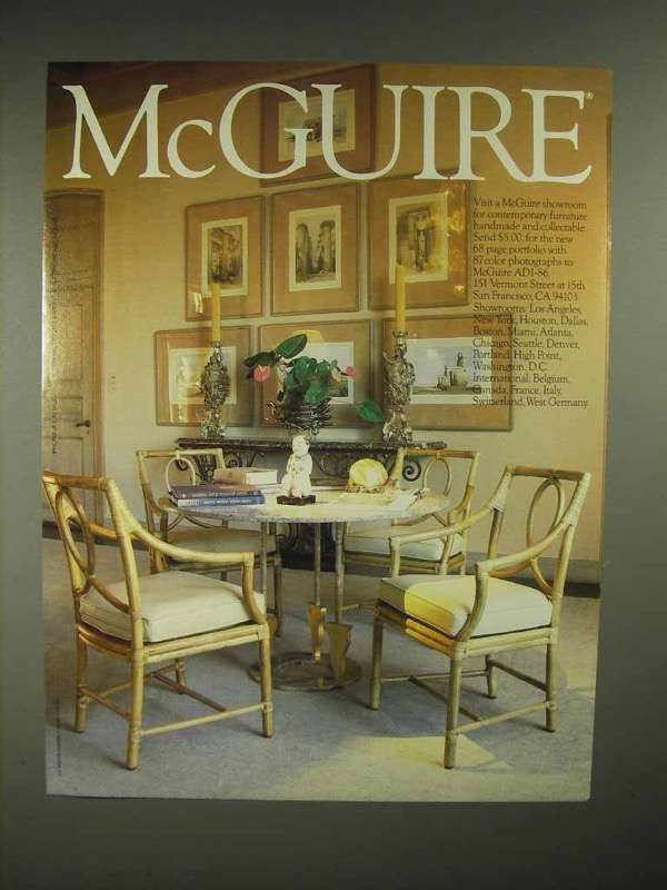 1986 McGuire Furniture Ad - NICE