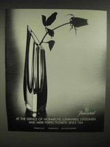 1986 Baccarat Crystal Vase Ad - At Service of Monarchs - $14.99