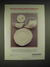 1985 Villeroy & Boch Arco Weiss, Palatino, Delta Ad - $14.99