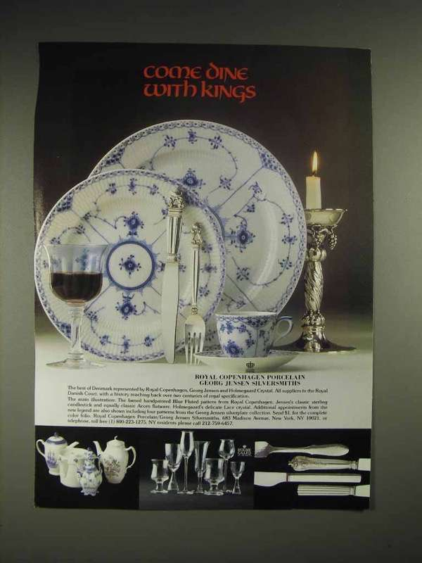 1985 Royal Copenhagen Blue fluted pattern China Ad