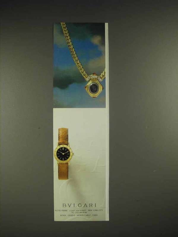 1984 Bulgari Watch and Jewelry Ad