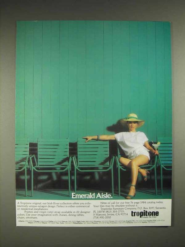 1984 Tropitone Irish River collection Furniture Ad