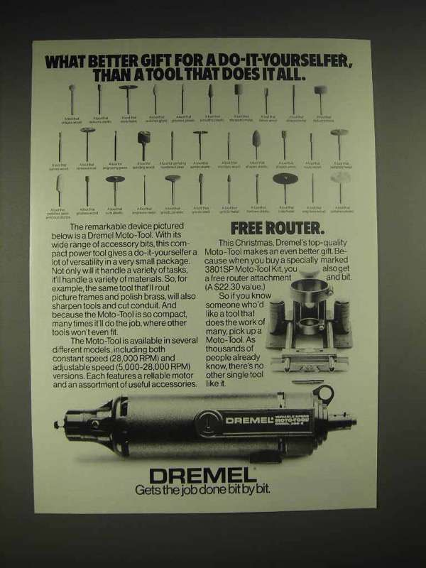 1984 Dremel Moto-Tool Ad - Does it All