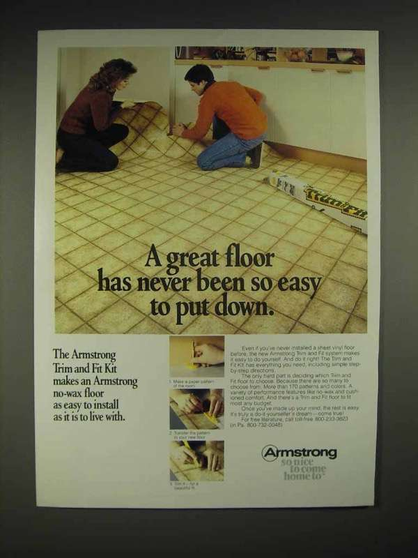 1983 Armstrong Trim and Fit Floor System Ad