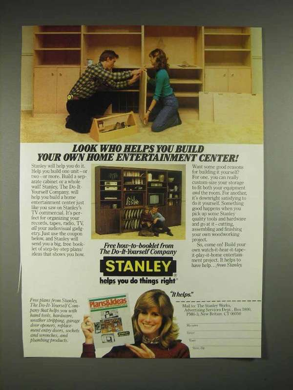 1983 Stanley Tools Ad - Build Home Entertainment Center