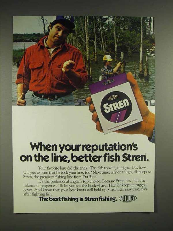 1982 Stren Fishing Line Ad - Your Reputation
