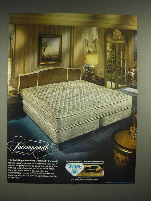 1982 Spring Air Back Supporter Sleep Mattress Ad