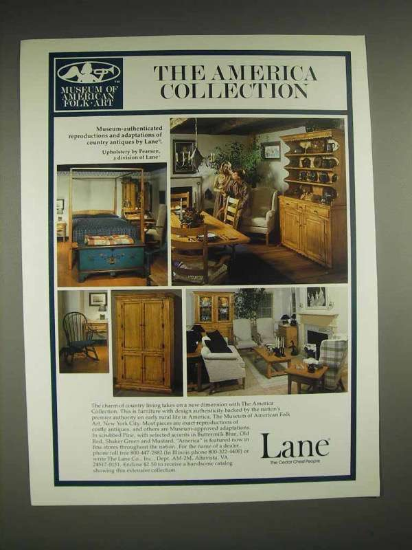 1982 Lane America Collection Furniture Ad