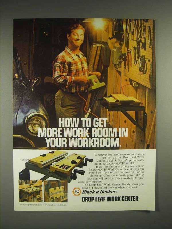 1981 Black & Decker Drop Leaf Work Center Ad