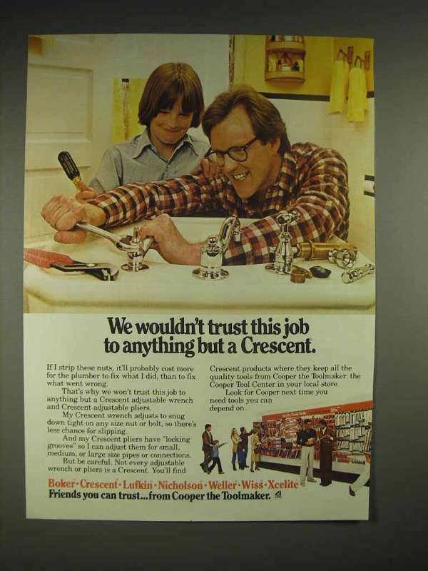 1980 Crescent Tools Ad - We Wouldn't Trust This Job