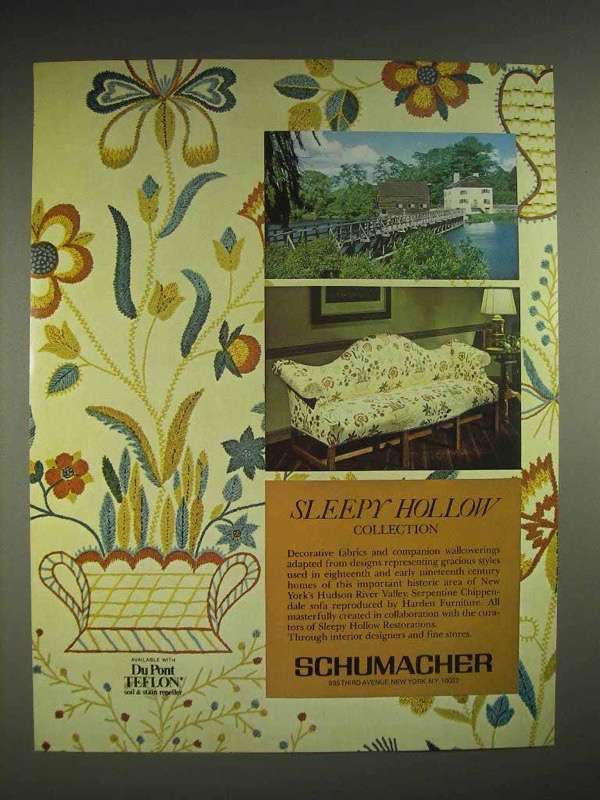 1980 Schumacher Sleepy hollow collection Fabric Ad