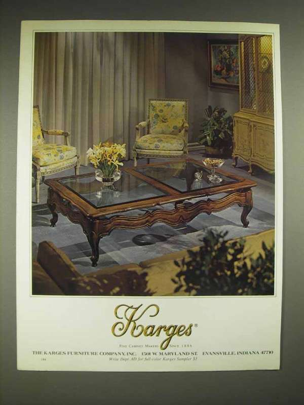 1980 Karges Furniture Ad - coffee table