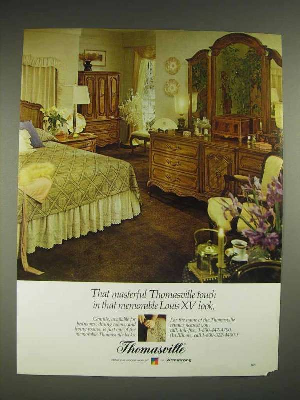 1980 Thomasville Furniture Ad - Louis XV Look
