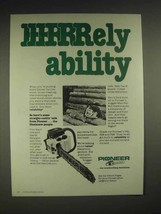1980 Pioneer P41 chainsaw Ad - RRRRRRely abilty - $14.99