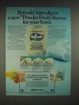 1980 Johnson Wax Befresh Powder Fresh Deodorizer Ad - $14.99