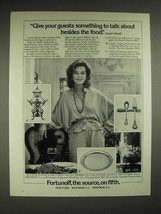 1980 Fortunoff Silver Ad - Lauren Bacall - $14.99