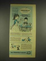 1958 Birney & Smith Crayola Crayons Ad - Constructive - $14.99