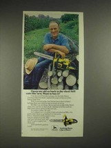 1979 John Deere Chainsaw Ad - Keep Ax Back in the Shed - $14.99