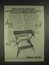 1975 Black & Decker Workmate Ad - Tool Inventions - $14.99
