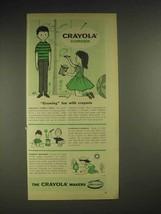 1959 Birney & Smith Crayola Crayons Ad - Growing Fun - $14.99