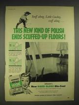 1952 Johnson's Hard Gloss Glo-Coat Wax Ad - $14.99