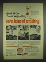 1952 Johnson's Glo-Coat Wax Ad - Saves Scrubbing - $14.99